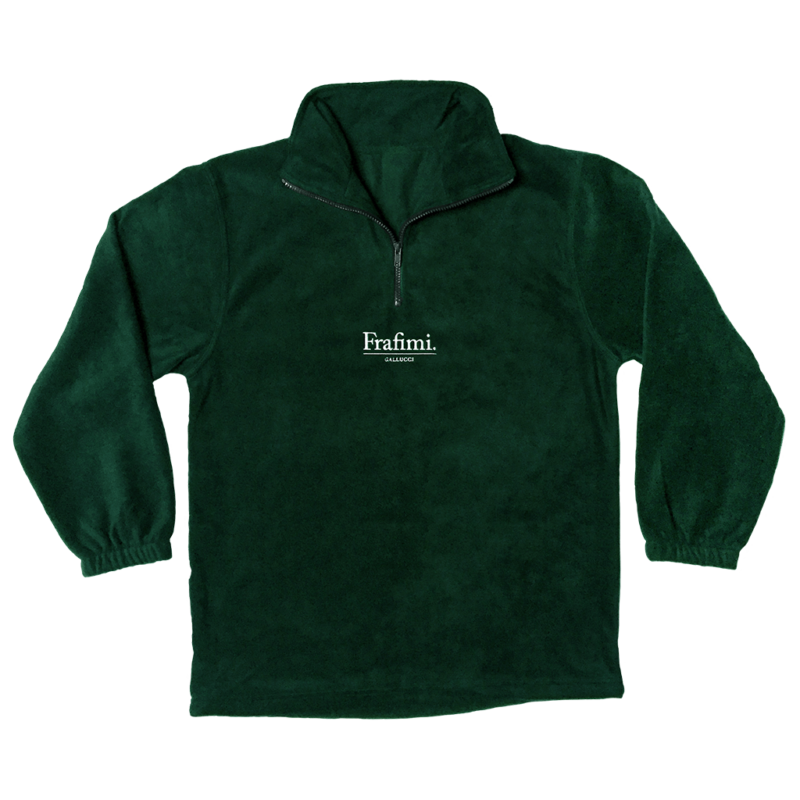 Embroidered Logo Fleece – Forest Green (Front)