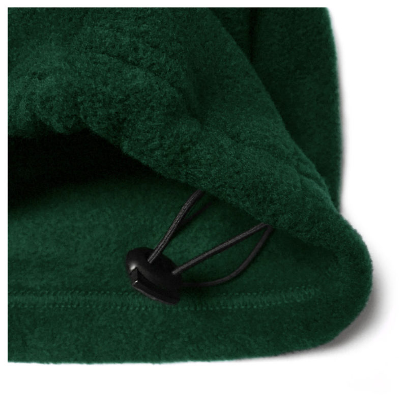 Embroidered Logo Fleece – Forest Green (Detail)