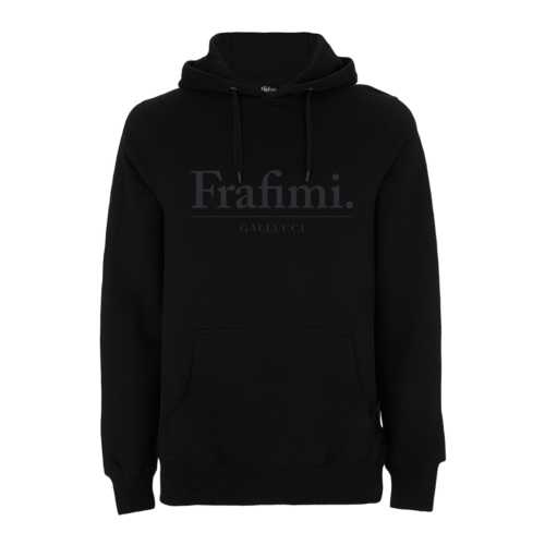 Understatement Hoodie – Black on Black (Front)